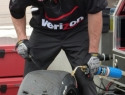 Tire work at the Verizon IndyCar Series Firestone Grand Prix of St. Petersburg