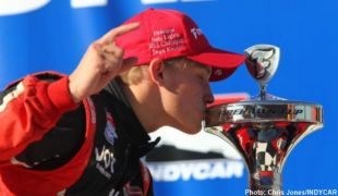 Muñoz wins Indy Lights race, Karam claims title at Auto Club Speedway