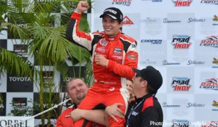 Chaves flips the script with Indy Lights win at Long Beach