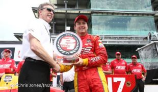 Saavedra surprises with Verizon P1 pole award for Grand Prix of Indianapolis