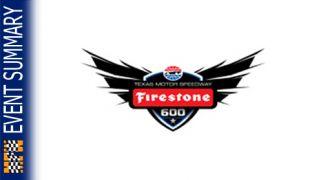 EVENT SUMMARY: 2014 Firestone 600
