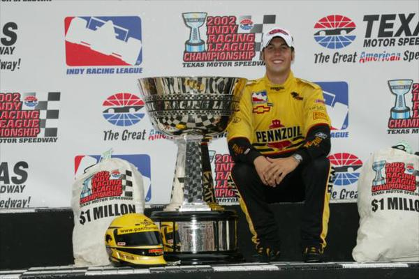 Sam Hornish's IndyCar championship in 2002 would be the last for Chevrolet before leaving the IndyCar Series following the 2005 season (photo courtesy of IMS)
