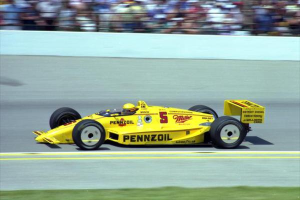Rick Mears took Chevrolet to the victory at Indianapolis in 1988. (Photo courtesy of IMS)