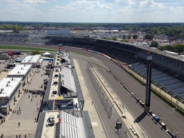 Turn One view from 9th floor of Pagoda, where IMS Radio is located.