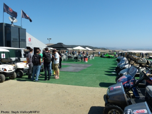 Andretti Autosport's hospitality area as it overlooks Sonoma Valley from between turns 2 and 3 at Sonoma Raceway.