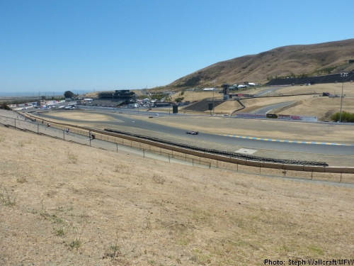 The view from the trackside RV parking area at Sonoma Raceway.