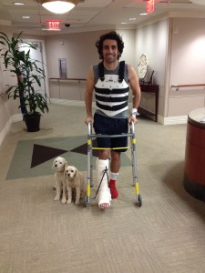 Dario Franchitti was released from Memorial Hermann Texas Medical Center in Houston. (Photo courtesy of Chip Ganassi Racing.)