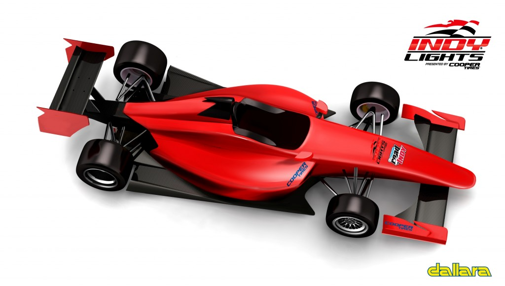 Indy Lights IL-15 new chassis top rendering
