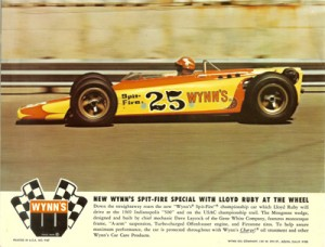 1969 Wynn's Advertisement Wedge Car