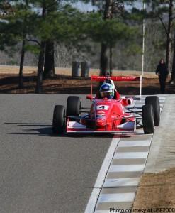 Daniel Burkett at the 2013 Chris Griffis Memorial Test for USF2000 at Barber Motorsports Park.