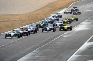 Pro Mazda race 1 start at Cooper Tires Winterfest at Barber Motorsport Park