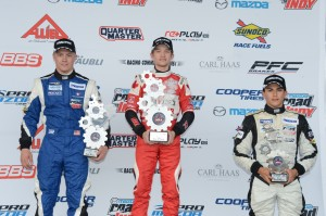 Pro Mazda Race 2 Podium at Cooper Tires Winterfest