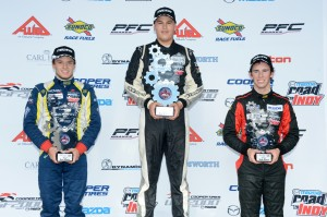 USF2000 Race 2 Podium at Cooper Tires Winterfest