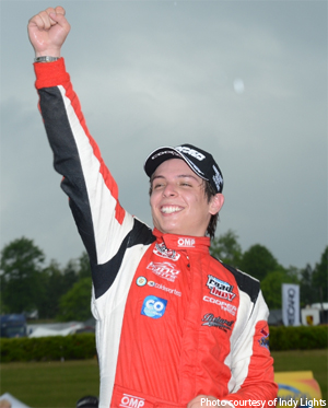 Gabby Chaves wins Indy Lights race 2 at Barber Motorsports Park