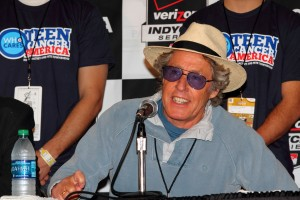 Roger Daltry announces Hunter-Reay, Dixon, and Wilson as TCA ambassadors.