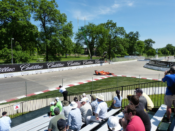 View of turn 3 at the Chevrolet Detroit Belle Isle Grand Prix