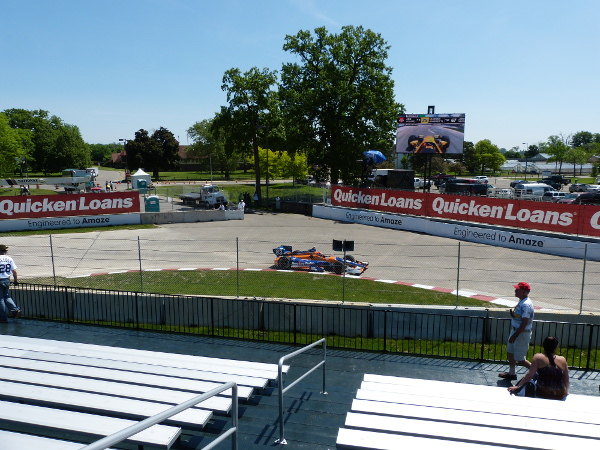 View of turn 4 at the Chevrolet Detroit Belle Isle Grand Prix