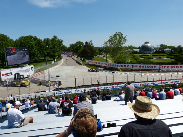 View of turn 5 at the Chevrolet Detroit Belle Isle Grand Prix
