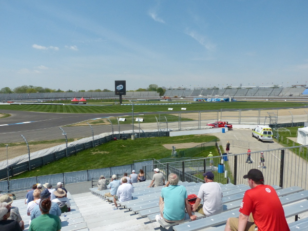Grand Prix of Indianapolis view from turn 5 grandstand