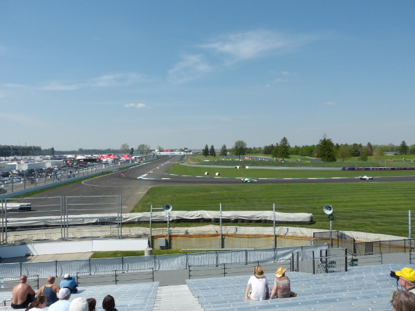 Grand Prix of Indianapolis view from turn 7 grandstand